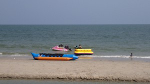 banana boat at Cha Am beach