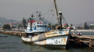 Large Fishing Boat in Hua Hin, Thailand