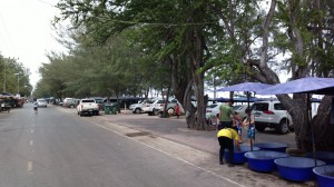 Street View of the Street Along the Beach, Cha Am