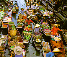 Floating Market at Domnoen Saduak