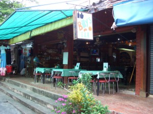 front of Billy's Bar and Restaurant in the Hua Hin Bazaar