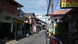 Touristy lane in Hua Hin, Thailand