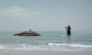 Statues in the Sea at Puek Tian, Thailand